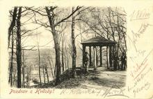 Mucha, Alphonse & others - Photographic postcard to Franz Ruth, Karlsbad