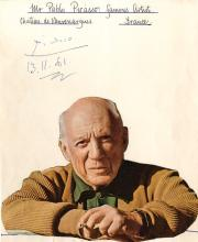 Picasso, Pablo - Blue ink signature dated