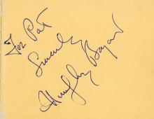 Autograph Album - incl. Humphrey Bogart - Autograph album with signatures by prominent actors and entertainers