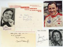 Autograph Collection - Miscellaneous collection of cards, photographs and typed notes...