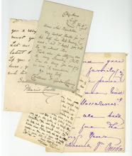 Autograph Collection - Novelists and Poets - Collection of letters by novelists and poets