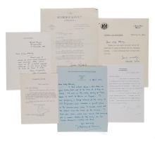Autograph Collection - politicians, actors - Large collection of letters and cards signed by prominent politicians