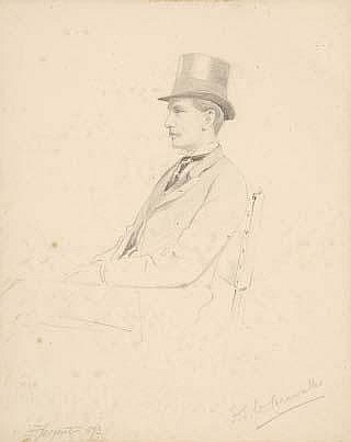 Attributed to Frederick Sargent (d. 1899) Portrait