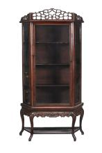 A Chinese Hongmu display cabinet, late 19th century