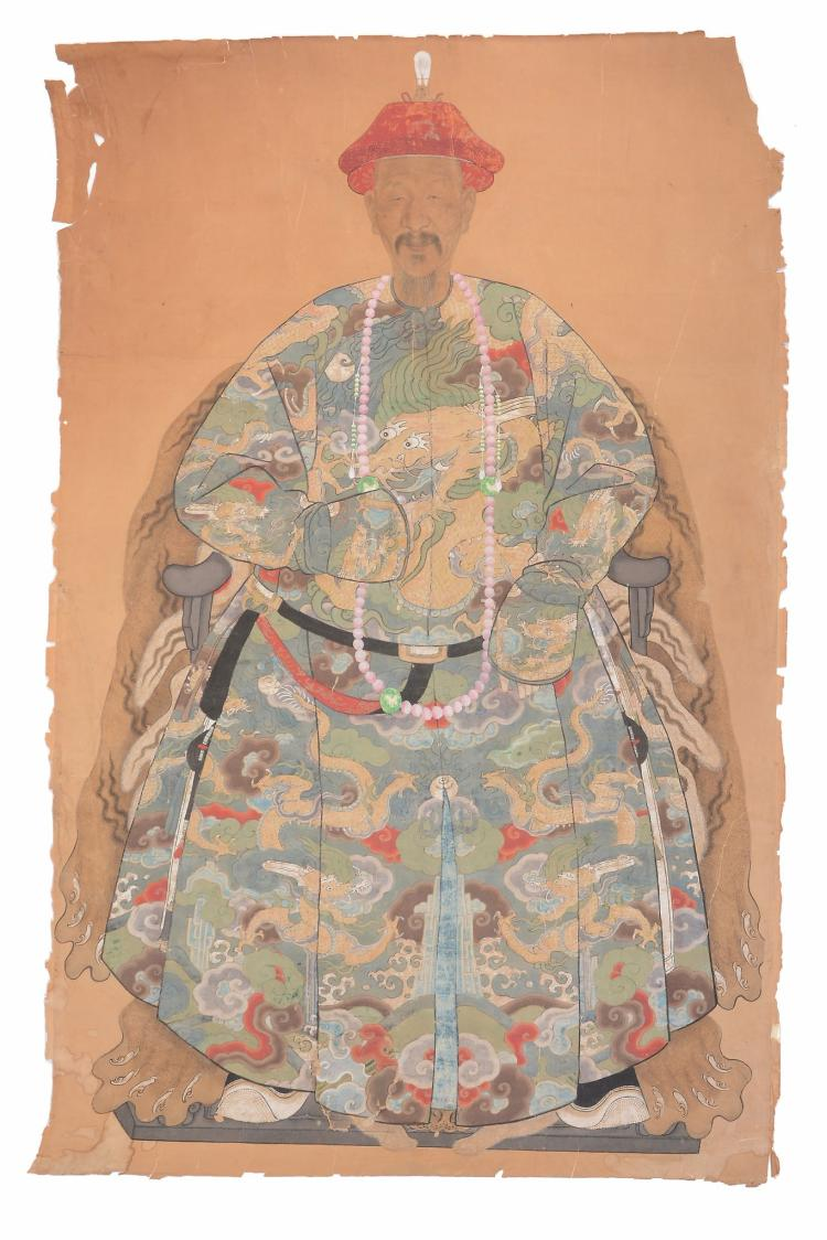 A large Chinese 'Ancestor' Portrait, 18th or 19th century