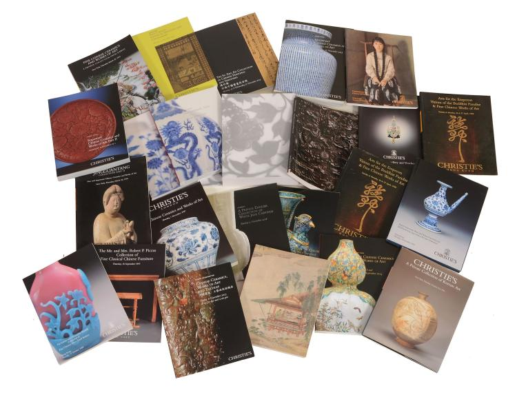 A large quantity of Sotheby's and Christie's Chinese auction catalogues