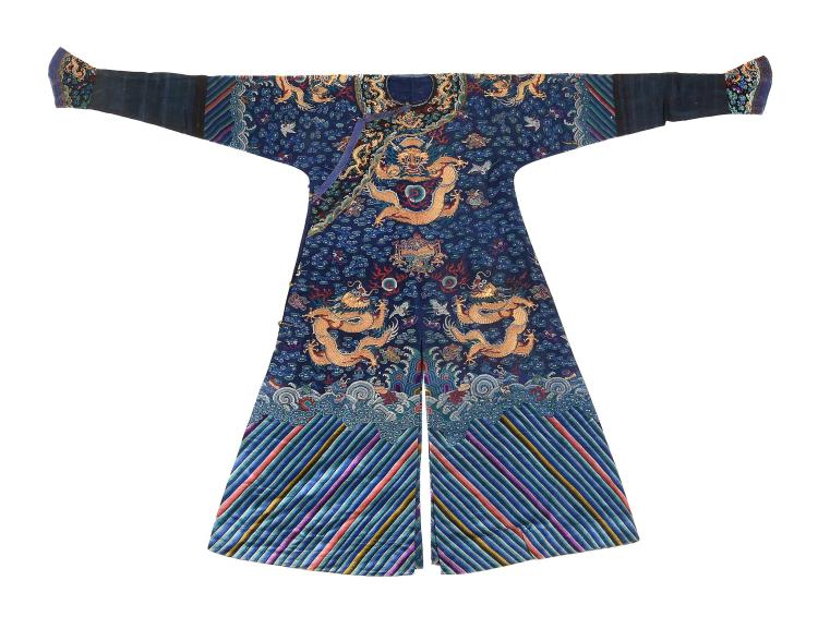 A Chinese summer gauze formal court robe , jifu, Qing Dynasty, 19th century