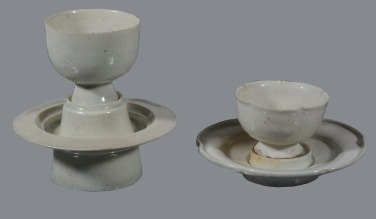 A Qingbai cup and stand , Song Dynasty or later