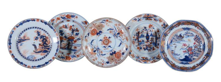 Two Chinese Imari plates , Kangxi, each approximately 22
