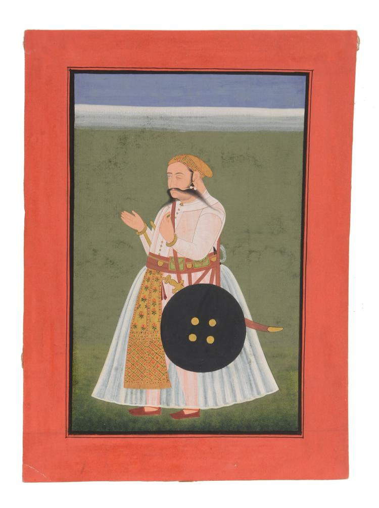 An Indian portrait of a Ruler, Mewar, Rajasthan, late 18th century