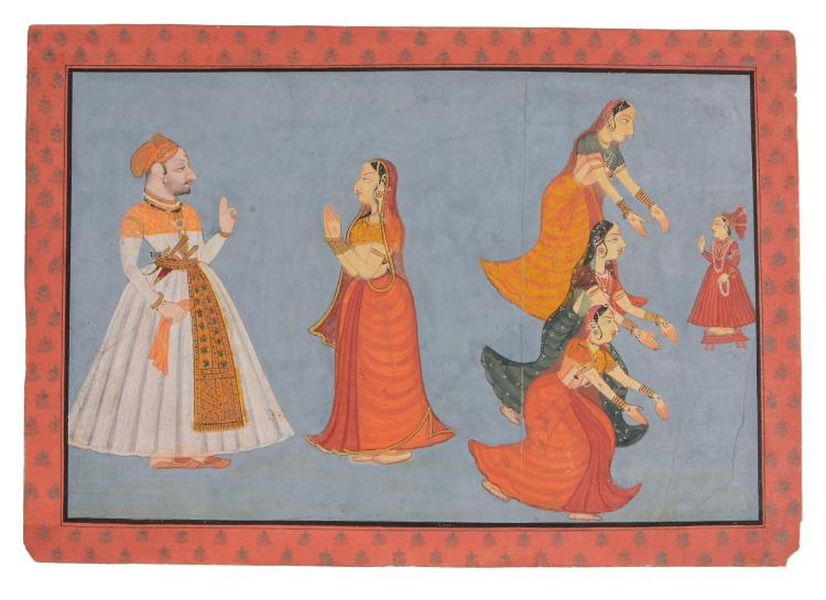 An Indian painting of a princely couple, Rajasthan, early 19th century
