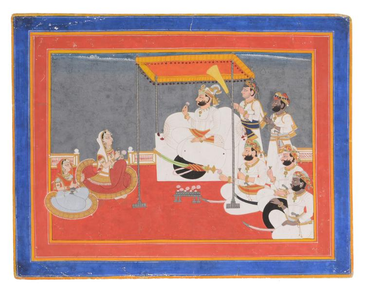 An Indian painting of a Ruler, Jodhpur, Rajasthan, circa 1800