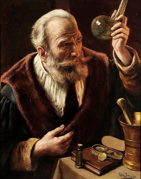 Leon de Meutter Brunin (1861-1949). The alchemist.
