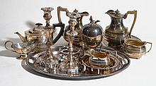 A quantity of electro-plated wares, including