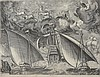 Franz Huys (1522-1562) - Two Galleys Sailing Behind an Armed Three-Master with Phaeton and Jupiter in the Sky, Frans Huys, Click for value