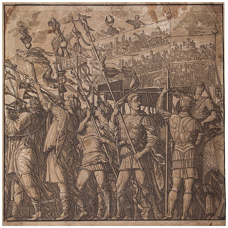 Andrea Andreani (1540-1603) - The Trumpeters and Standard Bearers