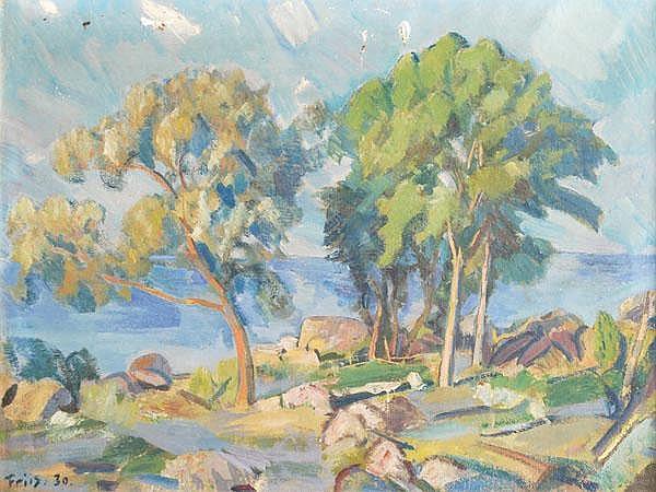 Achton Friis (1871-1939), A coastal landscape ,