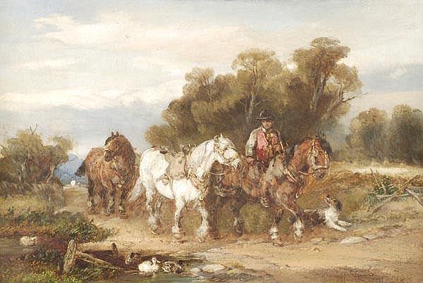 Harden Sidney Melville (1837-1881) Horses passing