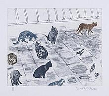 Dame Elizabeth Blackadder (b.1931) - Venice Cats