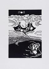 Edward Bawden (1903-1989) - A Hound It Was An Enormous Cool Black Hound
