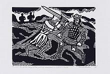 Edward Bawden (1903-1989) - He Smote His Father, King Arthur, With His Sword Held in Both His Hands