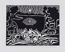 Edward Bawden (1903-1989) - Sir Kay Espied Them First & Got His Spear in His Hands & Proffered to Joust