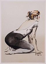 Donald Hamilton Fraser (1929-2009) - Dancer in Black Tights