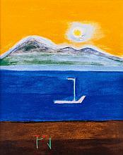 Craigie Aitchison (1926-2009) - Goat Fell, Isle of Arran