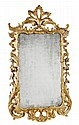 A George III carved giltwood wall mirror, circa