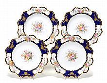Four Royal Crown Derby dessert plates, each