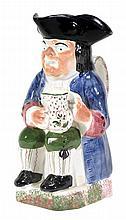 A British pottery Toby jug of Portobello type,