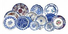 A mixed assortment of Spode blue and white printed
