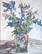 DDS. John Blockley (20th century) Irises, Pastel,