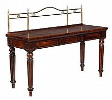 A George IV mahogany breakfront serving table,