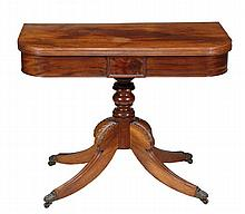 A George IV mahogany folding tea table, circa