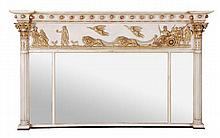 A George IV painted and parcel gilt overmantel