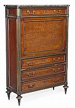 A Louis Philippe mahogany and gilt metal mounted