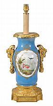 A French gilt bronze mounted Paris porcelain vase