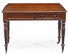 A William IV mahogany side table, circa 1835, the