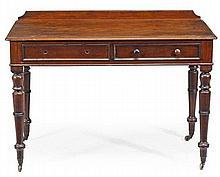 A William IV mahogany side table, circa 1835, the