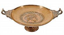 After Ferdinand Levillain (1837-1905), a bronze tazza