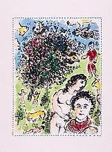 Marc Chagall (1887-1985) - Dans Le Jardin (m.1038)
