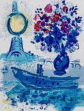 Marc Chagall (1887-1985) - Regards Sur Paris, Bateau - Mouche Au Bouquet (m.352)