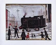 L.S. Lowry (1887-1976) - The Level Crossing