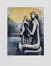 Henry Moore (1898-1986) - Mother and Child (C.671-700)