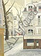Ratislaw Racoff (1904-1982) French street scenes A, Rastislaw Racoff, Click for value
