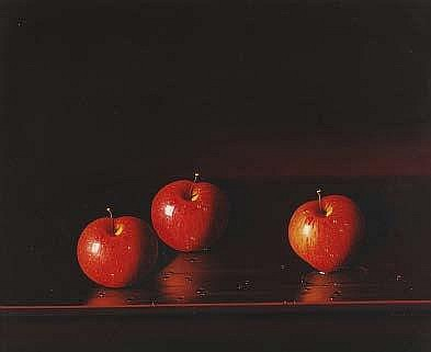 Luciano Guarnieri (b.1930) Still life of apples on