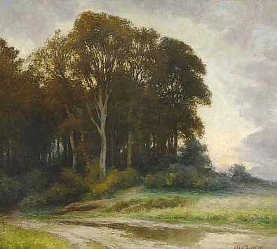 Edgar Bytebier (1875-1940) Wooded landscape Oil on