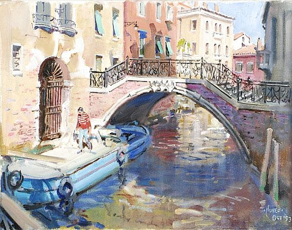 Terence Cuneo (1907-1996). The old blue barge,