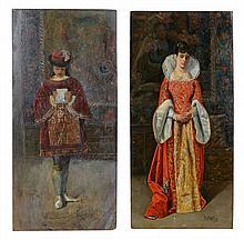 José Gallegos y Arnosa (1859-1917) - A portrait of a lady; A Pageboy
